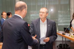 Vereidigung von Dr. Gerhard Ecker durch den Bezirkstagspräsidenten