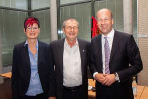 Petra Beer als neue Fraktionsvorsitzende, Präsident Martin Sailer, Dr. Gerhard Ecker