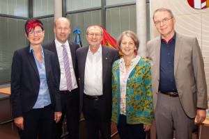 Petra Beer als neue Fraktionsvorsitzende, Präsident Martin Sailer, Dr. Gerhard Ecker, Vizepräsidentin Barbara Holzmann, Volkmar Thumser